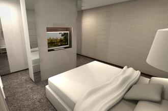 projekt sypialnia mini